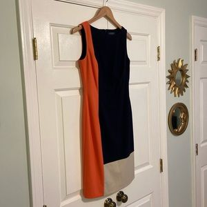 Ralph Lauren colorblock shift work dress